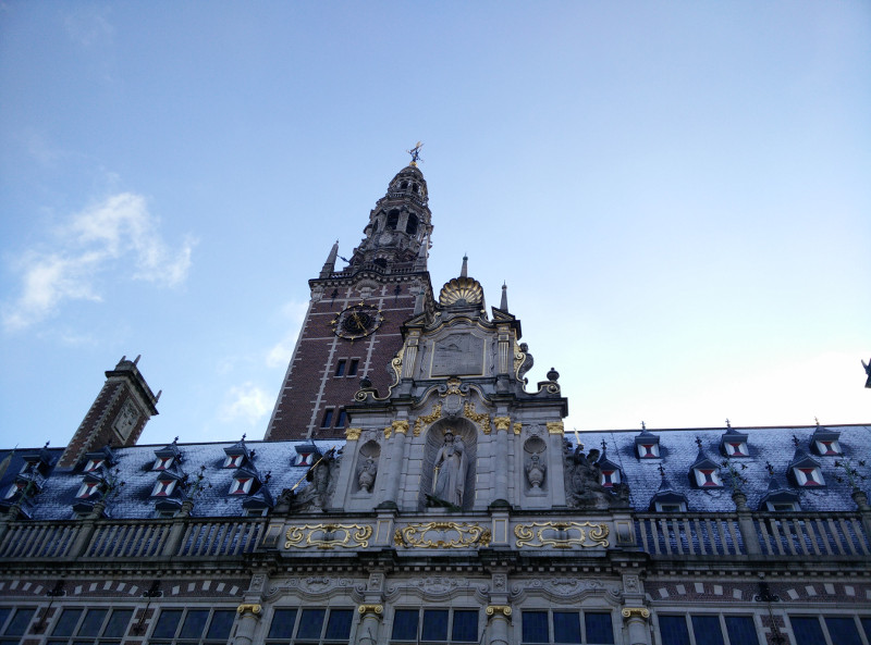 La torre de la biblioteca, con una vista increíble de la ciudad (o eso nos han contado, porque no hemos subido XD)